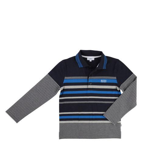 Multi-Stripe Polo Shirt Kids, ${color}