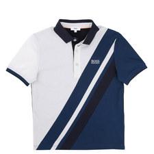 Diagonal Stripe Polo Shirt Teens