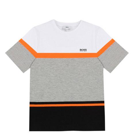 Contrast Block T-Shirt Teen, ${color}