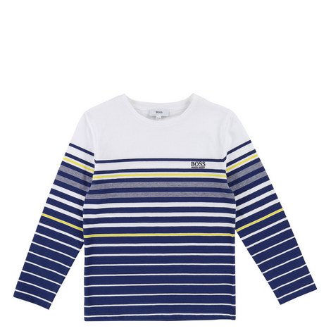 Striped Long Sleeve T-Shirt Kids, ${color}