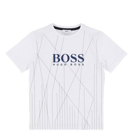 Logo Abstract Striped T-Shirt Teen, ${color}
