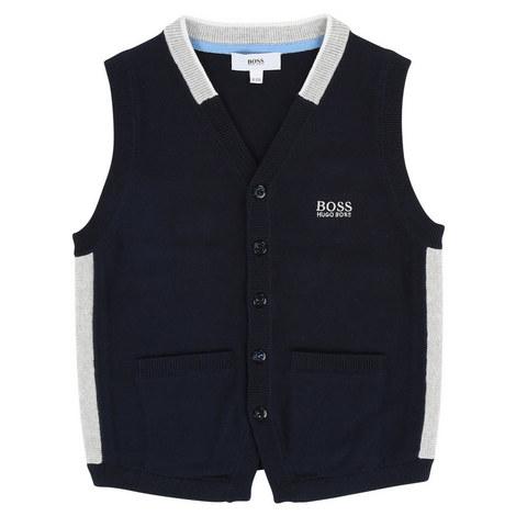 Knitted Logo Vest Teen, ${color}