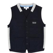Knitted Logo Vest Teen