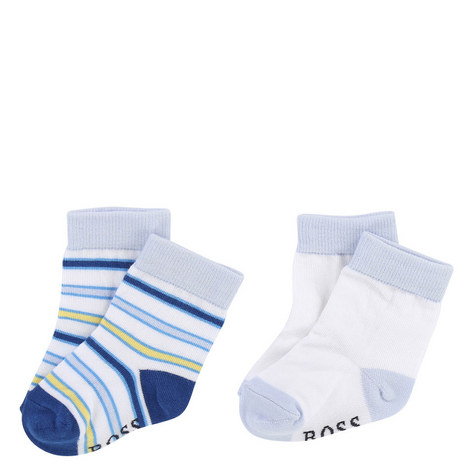 Set of 2 Striped Socks, ${color}