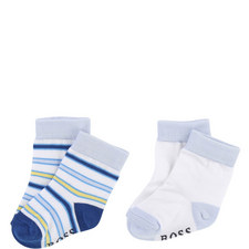 Set of 2 Striped Socks