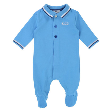 Piqué Polo Romper Baby, ${color}