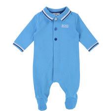 Piqué Polo Romper Baby
