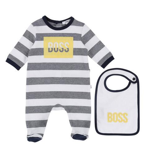 Striped Bib and Romper Baby, ${color}
