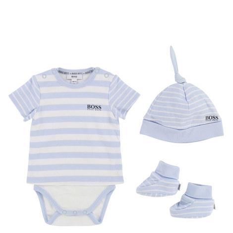3-Piece Striped Romper Baby, ${color}