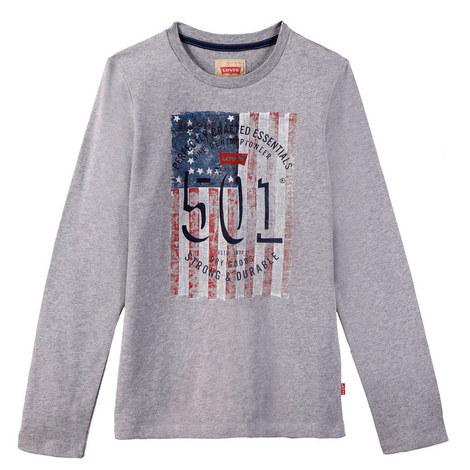 Flag Print Long Sleeve T-Shirt Kids, ${color}