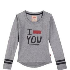 Slogan Marl T-Shirt Kids