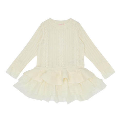 Cable Knit Sweater Dress Kids, ${color}