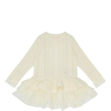 Cable Knit Sweater Dress Kids