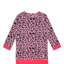 Long-Sleeved Leopard Print Dress
