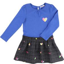 Jacquard Skirted T-Shirt Dress
