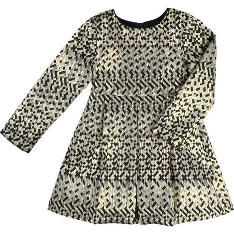 Geometric Jacquard Dress Kids, ${color}