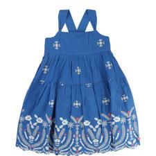 Embroidered Smock Dress Kids