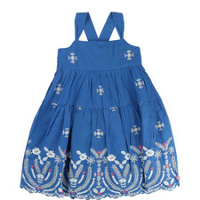 Embroidered Smock Dress Teens