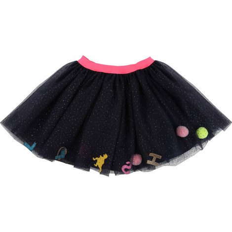 Tulle Patch Tutu Skirt, ${color}