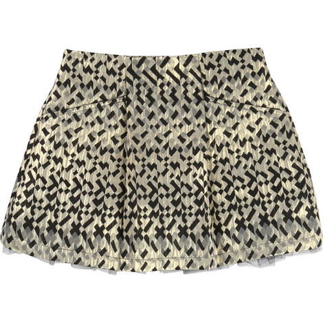 Jacquard Skirt Teen, ${color}