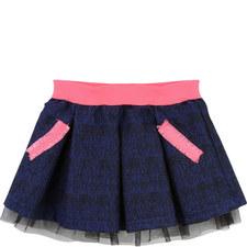 Tulle Trim Prom Skirt