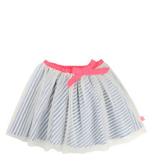Bow Appliqué Tulle Skirt Teens