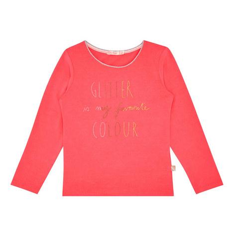 Long Sleeve Glitter T-Shirt Kids, ${color}