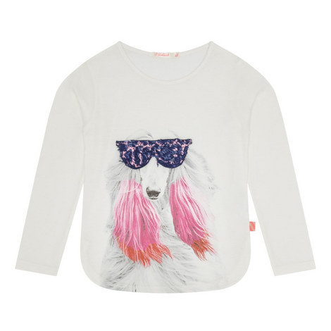 Dog Print Top Kids, ${color}