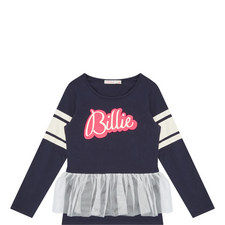 Tulle-Trimmed Top Kids