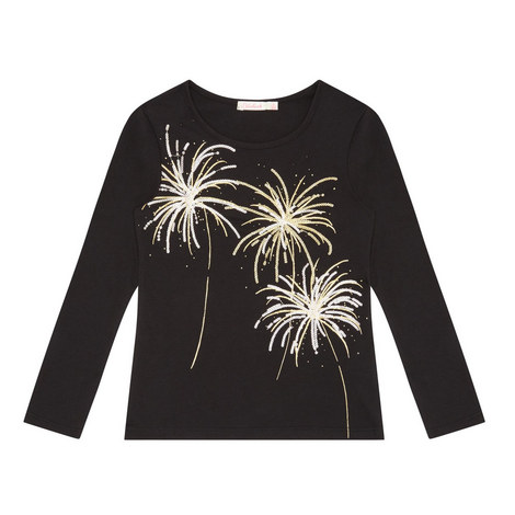 Long-Sleeve Firework Sequin T-Shirt Kids, ${color}