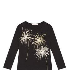 Long-Sleeve Firework Sequin T-Shirt Kids