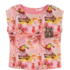 Printed Chest Pocket T-Shirt Kids