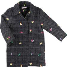 Embroidered Tweed Coat Teen