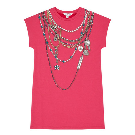 Chain Print Dress Kids, ${color}