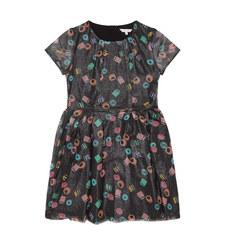 Glitter Sweet Print Dress