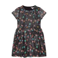 Glitter Sweet Print Dress Teen