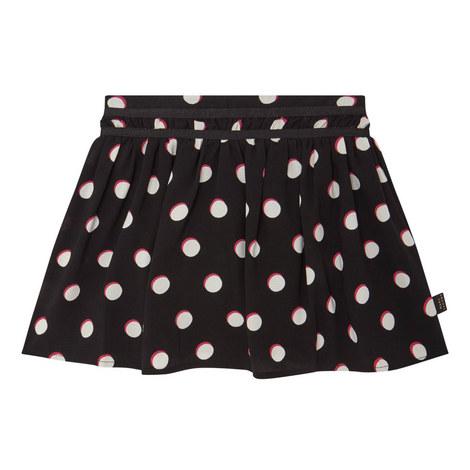 Spot Print Skirt Teens, ${color}