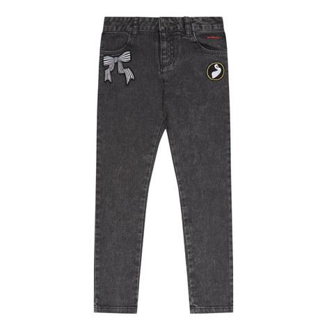 Patch Skinny Jeans Kids, ${color}