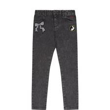 Patch Skinny Jeans Kids
