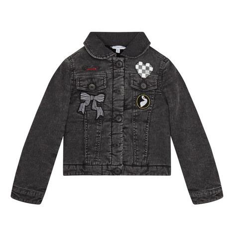 Fleece Denim Jacket Kids, ${color}