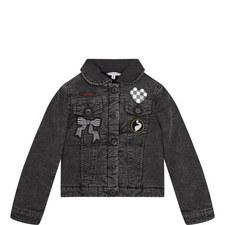 Fleece Denim Jacket Kids