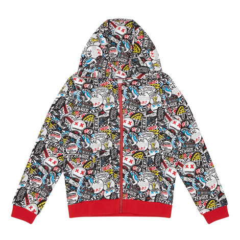 Graphic Print Hoodie, ${color}