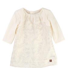 Lurex Scallop Edge Dress Baby