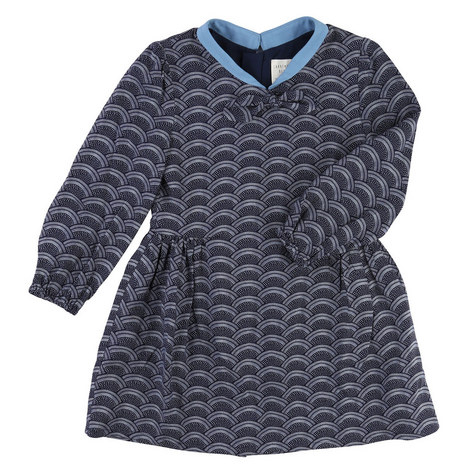 Scallop Print Dress Toddler, ${color}