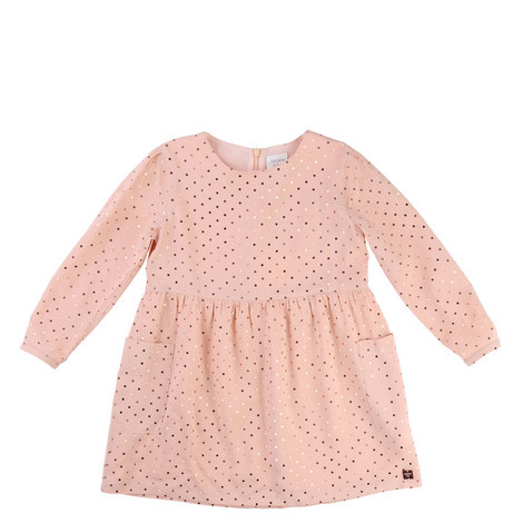 Metallic Dotty Dress Toddler, ${color}