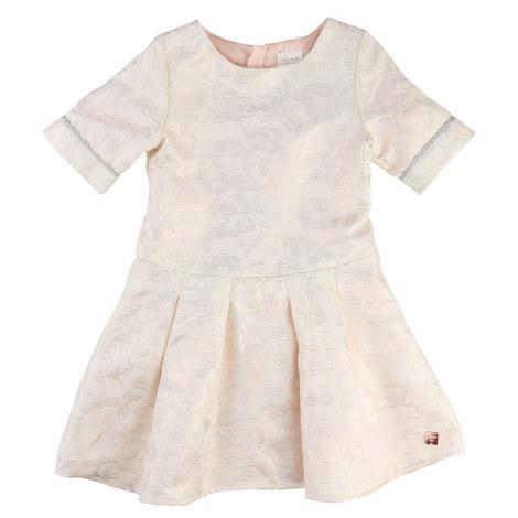 Jacquard Texture Dress Teen, ${color}