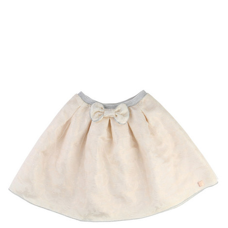 Tulle Jacquard Skirt Teen, ${color}