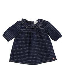 Ruffle Collar Dotty Dress Baby