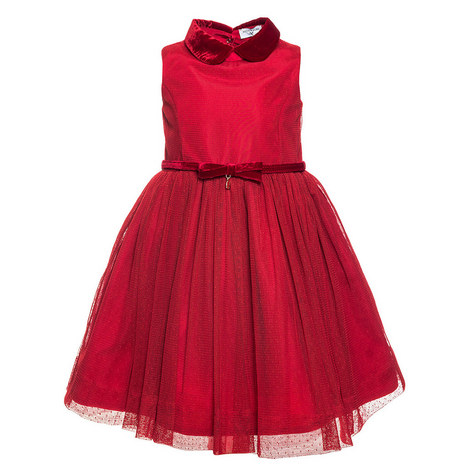 Peter Pan Collar Tulle Dress - 4-10 Years, ${color}