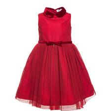 Peter Pan Collar Tulle Dress - 4-10 Years